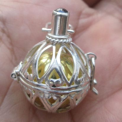 DB012 Bali Silver Dream Ball Pendant