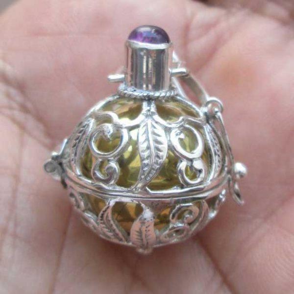 DB013 Bali Silver Dream Ball Pendant