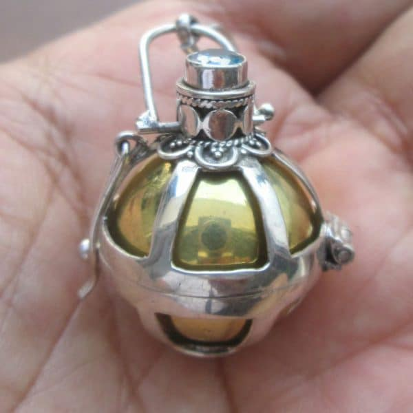 DB016 Bali Silver Dream Ball Pendant