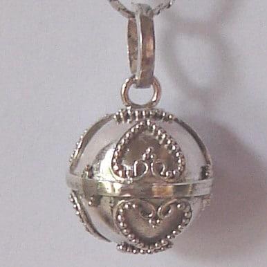 HB007 Bali Silver Harmony Ball Pendant