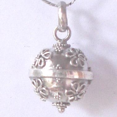 HB062 Bali Silver Harmony Ball Pendant