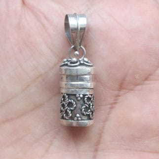 PB010 Silver Prayer Box Pendant